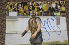 Dark Knight Rises Tom Hardy Signed 11x14 Photo Bane Autograph Psa/dna V72631
