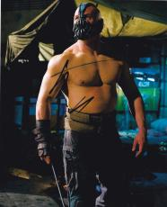 Dark Knight Rises Tom Hardy Signed 8x10 Photo Bane Inscription Exact Proof Coa E