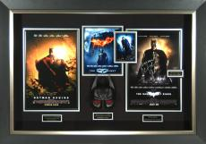 Dark Knight Trilogy Christian Bale Signed Poster Framed