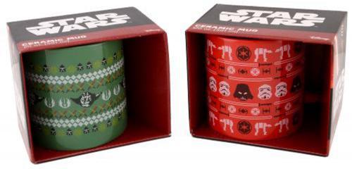 Dark Side and Light Side 2 PC Ugly Sweater Mug Set