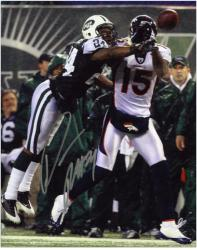 "Darrelle Revis New York Jets Autographed 8"" x 10"" vs Denver Broncos Photograph"
