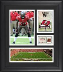 Darrelle Revis Tampa Bay Buccaneers Framed 15'' x 17'' Collage with Game-Used Football - Mounted Memories