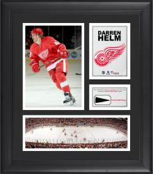 """Darren Helm Detroit Red Wings Framed 15"""" x 17"""" Collage with Piece of Game-Used Puck"""