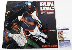 "Darryl McDaniels Signed & Inscribed 12"" Single Run DMC Ghostbusters w/ JSA AUTO"
