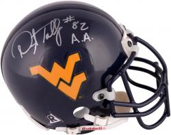 Darryl Talley West Virginia Mountaineers Autographed Riddell Mini Helmet with 82 A.A. Inscription