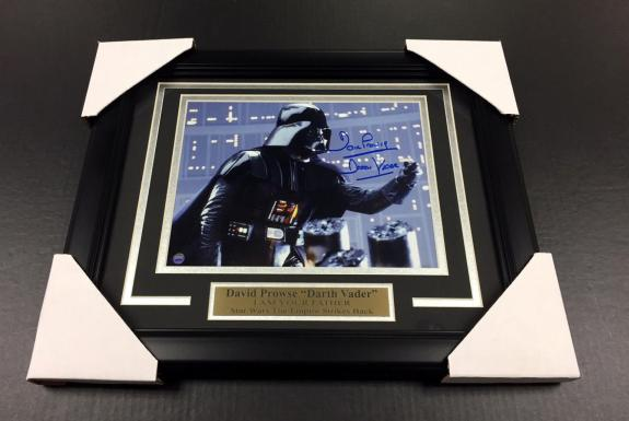 Darth Vader Star Wars David Prowse Autographed Framed 8x10 Photo Steiner Coa