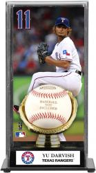 Yu Darvish Texas Rangers Baseball Display Case with Gold Glove & Plate - Mounted Memories