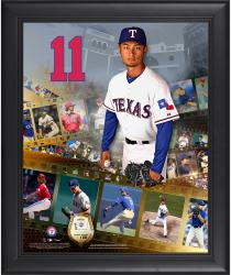 Yu Darvish Texas Rangers Framed 16'' x 20'' Film Strip Composite with Piece of Game-Used Ball-Limited Edition of 500 - Mounted Memories