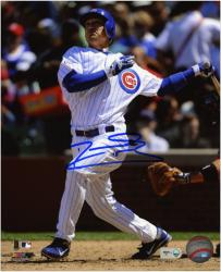 "Darwin Barney Chicago Cubs Autographed 8"" x 10"" Looking Up After Swing Photograph"