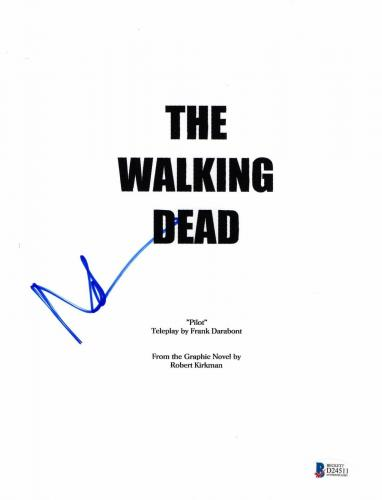 Daryl Dixon Norman Reedus Signed 'the Walking Dead' Full Script Screenplay Bas