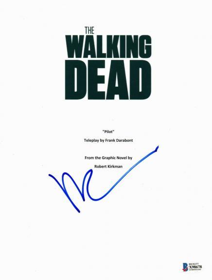 Daryl Dixon Norman Reedus Signed 'the Walking Dead' Full Script Screenplay Bas 2