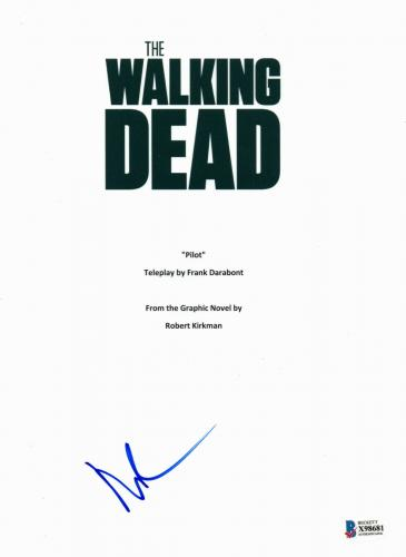 Daryl Dixon Norman Reedus Signed 'the Walking Dead' Full Script Screenplay Bas 4