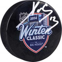 Pavel Datsyuk Detroit Red Wings Winter Classic Autographed Hockey Logo Puck - Mounted Memories