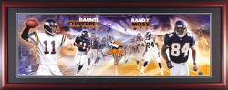 Daunte Culpepper and Randy Moss Minnesota Vikings Framed Unsigned Panoramic Photograph - Mounted Memories