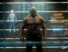 "Dave Bautista Autographed 11"" x 14""  Standing In X-Ray Machine Guardians Of The Galaxy Photograph - Beckett COA"