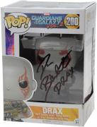 "Dave Bautista Guardians of the Galaxy Autographed #50 Drax Funko Pop! with ""Drax"" Inscription - JSA"
