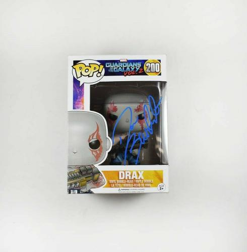 Dave Bautista Guardians of the Galaxy Autographed Signed Funko Pop JSA COA