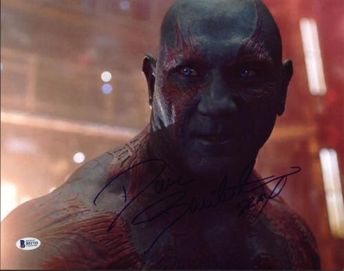 """Dave Bautista Guardians of the Galaxy """"Drax"""" Signed 11X14 Photo BAS #B51725"""