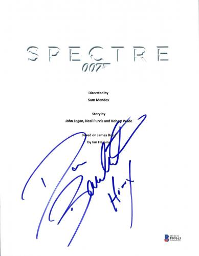 "Dave Bautista ""Hinx"" Signed 8.5x11 Spectre Script Cover BAS #F09163"