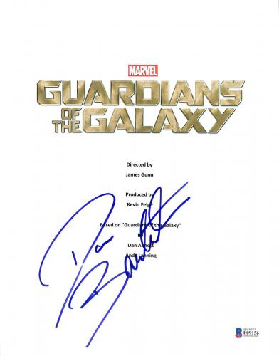 Dave Bautista Signed Guardians of the Galaxy Script Cover BAS #F09156