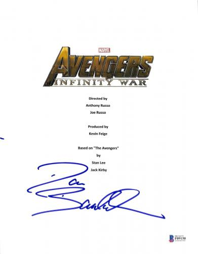 Dave Bautista Signed The Avengers Infinity Way Script Cover BAS #F09150