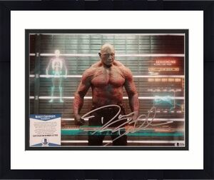 DAVE BAUTISTA Signed Drax 11x14 Photo Guardians of the Galaxy~ Beckett BAS COA