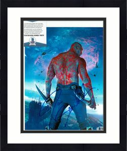 DAVE BAUTISTA signed (GUARDIANS OF THE GALAXY) DRAX 8X10 Avengers BECKETT T89876