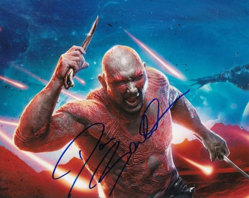 DAVE BAUTISTA signed (GUARDIANS OF THE GALAXY) DRAX 8X10 photo AVENGERS W/COA #1