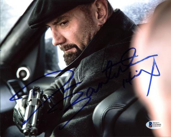 "Dave Bautista Spectre ""Hinx"" Signed 8x10 Photo Autographed BAS #C63666"