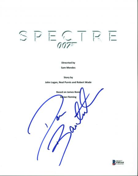 Dave Bautista Spectre Signed Movie Script Cover BAS #F09164