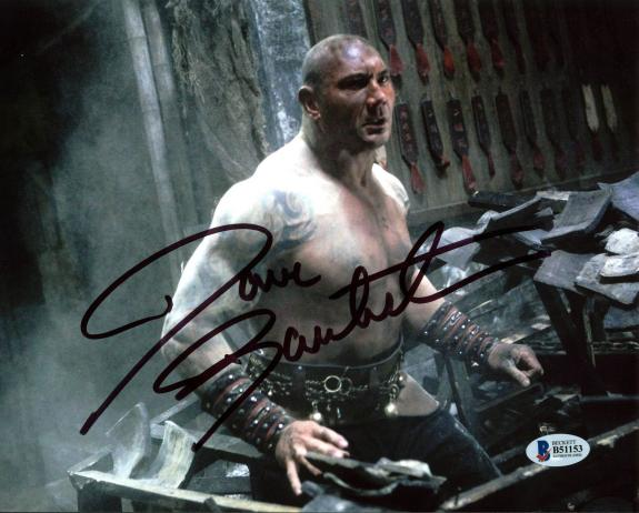 Dave Bautista The Man with the Iron Fists Signed 8X10 Photo BAS B51153
