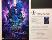 Dave Bautista Zoe Saldana Chris S Guardians of the Galaxy Signed 11x14 Photo BAS