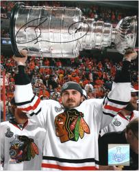 """Chicago Blackhawks David Bolland 2010 Stanley Cup Champions Autographed 8"""" x 10"""" Photo"""