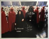 Dave David Prowse Ian Mcdiarmid Signed 16x20 Photo Star Wars BECKETT COA 2