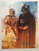 Dave David Prowse Jeremy Bulloch Signed Star Wars 11x14 Photo BECKETT COA