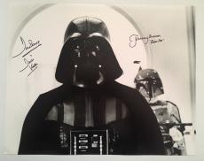 Dave David Prowse Jeremy Bulloch Signed Vader 16x20 Photo Star Wars BECKETT COA1