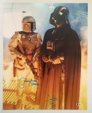 Dave David Prowse Jeremy Bulloch Signed Vader 16x20 Photo Star Wars BECKETT COA2