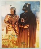 Dave David Prowse Jeremy Bulloch Signed Vader 16x20 Photo Star Wars BECKETT COA3