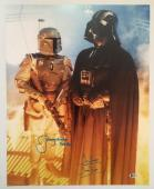 Dave David Prowse Jeremy Bulloch Signed Vader 16x20 Photo Star Wars BECKETT COA4