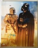 Dave David Prowse Jeremy Bulloch Signed Vader 16x20 Photo Star Wars JSA COA 2