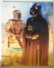 Dave David Prowse Jeremy Bulloch Signed Vader 16x20 Photo Star Wars JSA COA 3