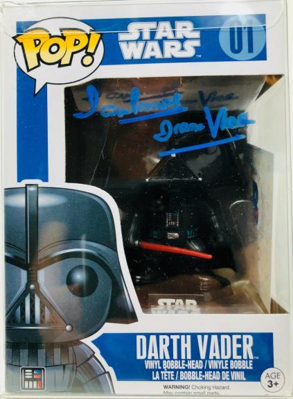 Dave David Prowse Signed Darth Vader Funko Pop Star Wars BAS Beckett PSA DNA