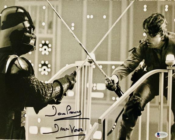Dave David Prowse Signed Star Wars Darth Vader 16x20 Photo Beckett BAS 16