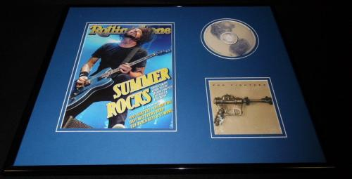 Dave Grohl 16x20 Framed Foo Fighters CD & 2011 Rolling Stone Cover Display