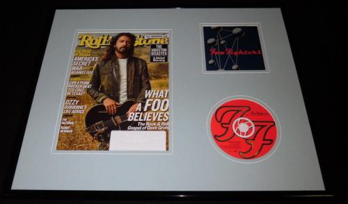 Dave Grohl 16x20 Framed Foo Fighters CD & 2017 Rolling Stone Cover Display