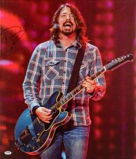 "Dave Grohl Autographed 20""x 24"" Foo Fighters Playing Guitar Stretched Canvas - BAS COA"
