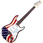 Dave Grohl Foo fighters Autographed Signed USA Flag Guitar UACC RD COA AFTAL