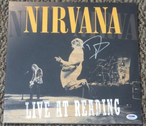 Dave Grohl Foo Fighters Nirvana Signed Autograph Album Live At Reading Vinyl Psa