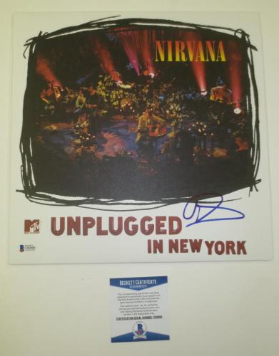 Dave Grohl Foo Fighters Nirvana Signed Autograph Album Mtv Unplugged Beckett Coa