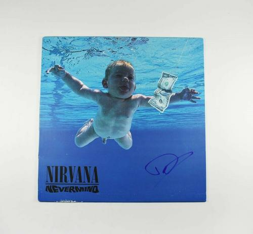 Dave Grohl Nirvana Foo Autographed Signed Album LP Record Authentic JSA COA